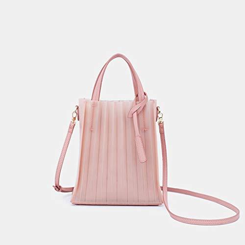 XinZe Damen Umhängetasche, Transparente Jelly Pack, Damen Umhängetasche, Damen Handtasche, Neue Damen Tasche Trendy Wild Messenger Bag Tragbare Mode Big Capacity Mom Bag,Pink