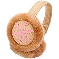 SUPRERHOUNG Snowflake Auriculares de música Ear Warmer Unisex Classic Earmuffs Accesorio de Invierno Outdoor Earmuffs (Caqui) (tamaño : 14cm)