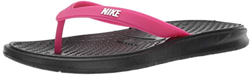 Nike Damen Women's Solay Thong Fitnessschuhe Mehrfarbig (Black/White/Vivid Pink 001) 44.5 EU Nike Womens Thongs