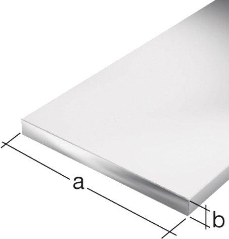 GAH.ALBERTS Flachstangen 20 x 2 mm, aluminium 2 m 7402, silber eloxiert, 47402 7