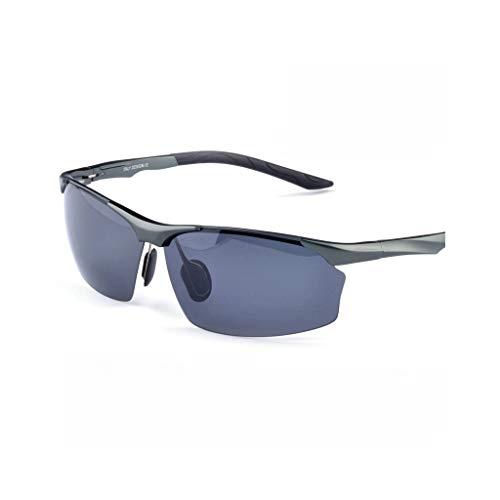 HBGGGGG Radfahren Brille Sport Ski Sonnenbrille, PC polarisierte Gläser, Nano-Öl-Film Unisex Reiten 100% UV-Schutz (Color : Gray)