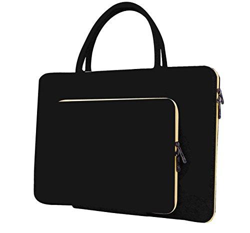 15 Zoll Laptop Schutzhülle Filz Tasche Hülle Sleeve Case Laptoptasche Notebooktasche Schwarz