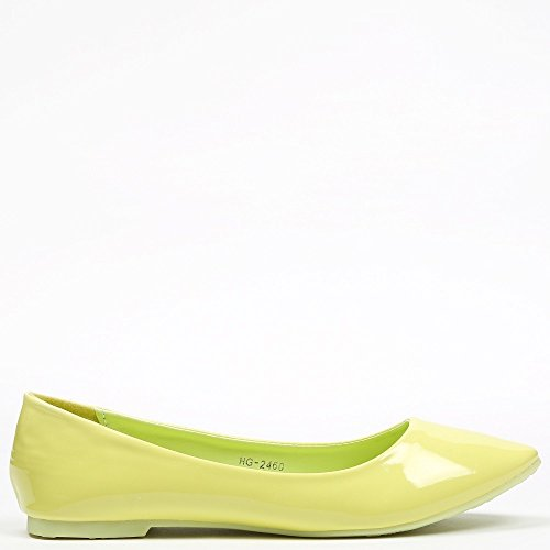 Ideal Shoes Ballerine levigate classici Patsy Verde