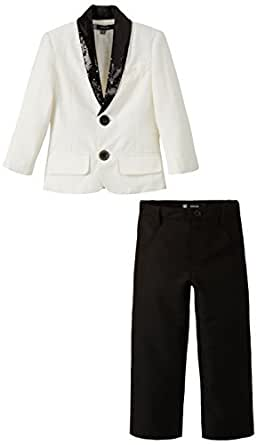 Kidology In-house Collection by Maya Nocon Boys' Blazer and Pant (KD/B/BZ/13/0444_Ivory and Black_9-10 Years)
