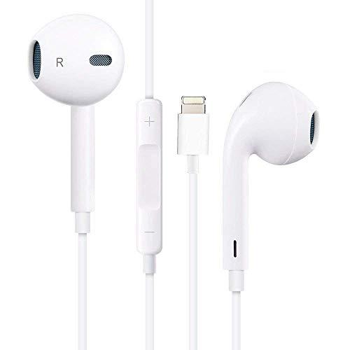 ultrapower100 Cuffie Auricolari per iPhone [Garanzia a Vita] con connettore Lightn. Compatibile per iPhone 7 8 X XS XR XS Max - Nuovo con Cavetto 1 Metro / 100 CM e Microfono