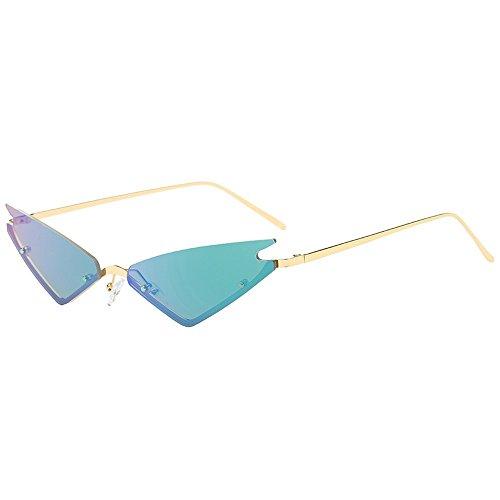 Battnot☀ Sonnenbrille für Damen Herren, Unisex Vintage Unregelmäßige Form Rahmen Mode Anti-UV Gläser Sonnenbrillen Schutzbrillen Männer Frauen Retro Billig Sunglasses Women Eyewear Eyeglasses