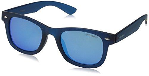 Polaroid Unisex-Kinder PLD 8009/N JY UJO Sonnenbrille, Blau (Bluette Transparent/Grey Blue Mirror Polarized), 45