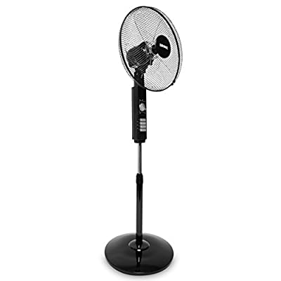 Duronic Pedestal Fan | Oscillating/Rotating | 3 Speeds | Remote Control | 16 Inch Tilting Head | Timer Function | Electric 60W | 3 Modes: Normal, Eco, Night | Cooling for Summer in Home/Office