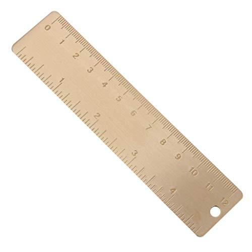 Goodplan Vintage Gerade Lineal Mini Kupfer Lineal Messwerkzeug für Office Home School Verwenden 1 STÜCKE 12 CM -