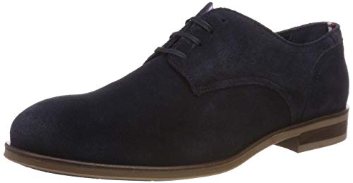 Tommy Hilfiger Herren Dress Casual Suede Shoe Oxfords, Blau (Midnight 403), 43 EU Herren Casual Dress Schuhe