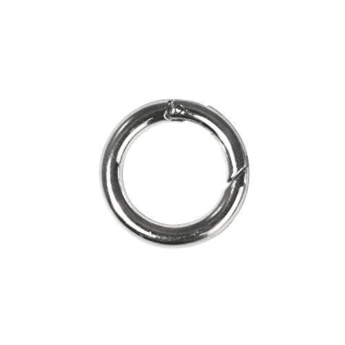 RAYHER 2240821 Ringverschluß, rund, 25 mm Durchmesser, SB-Btl, 1 Stück, platin