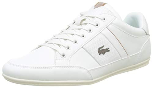 Lacoste Herren Chaymon 319 1 CMA Sneaker, Weiß (Off White/Light Brown 2r2), 46 EU