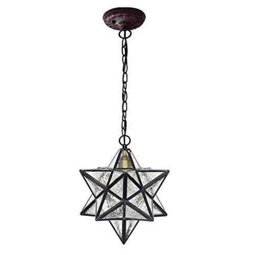 ZOUQILAI Pentagram Kronleuchter Kreative Wohnzimmer Esszimmer Glas Pendelleuchte Moderne Kunst Stern...