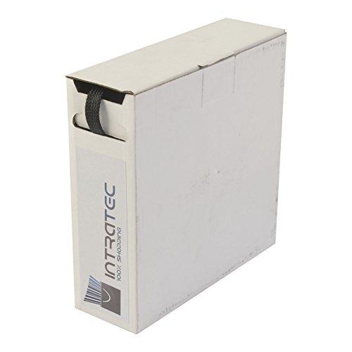 Geflechtschlauch Box Kabelschutz 17,0-8,0mm schwarz 12 Meter aus Polyester Gewebeschlauch Kabelsortierung
