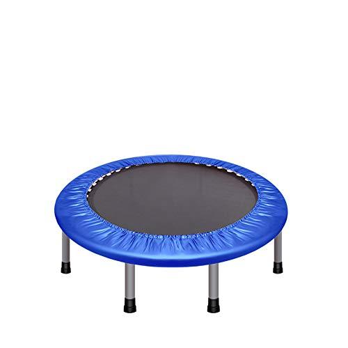 Homesave trampolino quattro pieghe di stoccaggio 48 pollici cuscinetto peso 150kg,blue