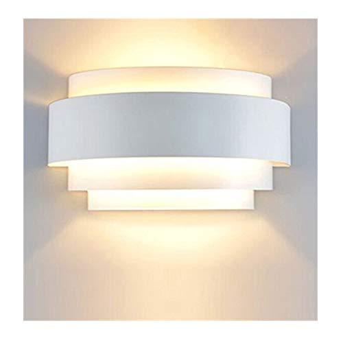 Lightess LED Wandleuchte Weiss Innen Wandlampe Warmweiß Up and Down 5W Innenleuchte Wand aus Aluminium modern für Schlafzimmer Wohnzimmer Küche usw. (Glühbirne enthalten)