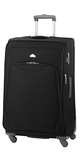 D&N by Lefox '' Trolley Noir 68 cm (6) dN164 4 rä. Light TSA, Polyester Travel Line 6104 d & N