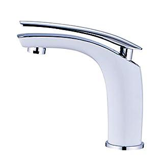 Amadi Washbasin Tap Mixer Tap Bathroom Sink Mixer Tap White Chrome