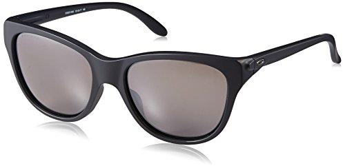 Oakley Women's Hold Out Polarized Iridium Cateye Sunglasses, Matte Black, 55 mm
