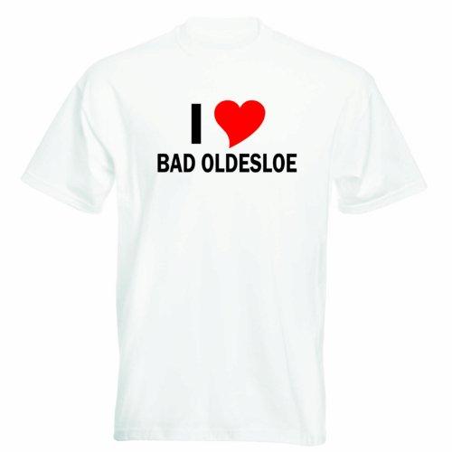 T-Shirt mit Städtenamen - i Love Bad Oldesloe- Herren - unisex Weiß