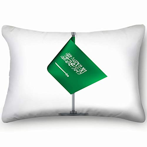 Flag Design Saudi Arabian Flag Hanging Objects Flag Objects Signs Symbols Flag Signs Symbols Throw Pillow Case Cushion Cover Double Side Design 20