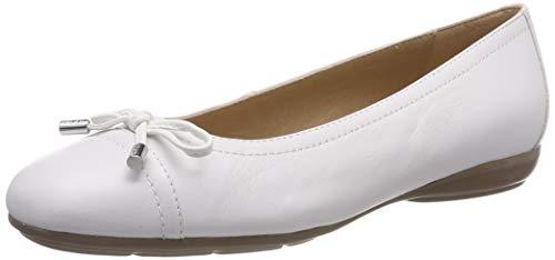 Geox D Annytah D, Bailarinas para Mujer, Blanco White C1000, 39 EU