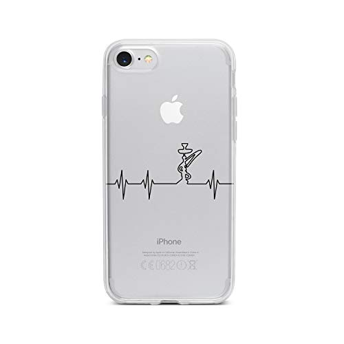 licaso Apple iPhone 8 Handyhülle Smartphone Apple Case aus TPU mit Shisha Print Motiv Slim Design Transparent Cover Schutz Hülle Protector Soft Aufdruck Lustig Funny Druck