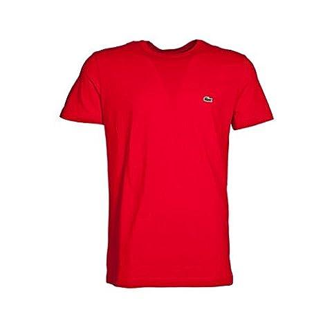 Lacoste Herren T-Shirt Crew Neck, Red 240, Gr. 7 (Herstellergröße: