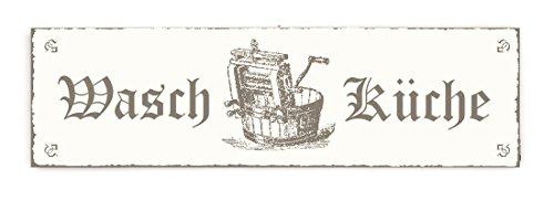 SCHILD Türschild « WASCHKÜCHE » Shabby Vintage Holzschild Dekoschild Dekoration Gastronomie Restaurant Hotel