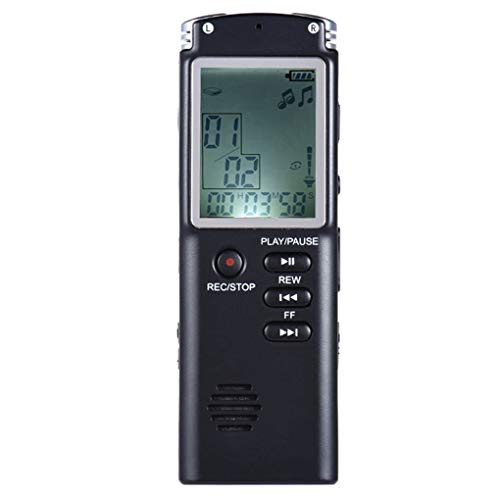 Morza 8GB 2 in 1 professionelle Digitale Audio Voice Recorder Diktiergerät Mini Recording Telefon Aufnahme MP3-Player (Recorder Telefon Voice)