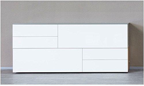 KITOON Sideboard (B 190 H 76 T 48 cm), Fußgestell, Nuß geölt (Echtholzfurnier)