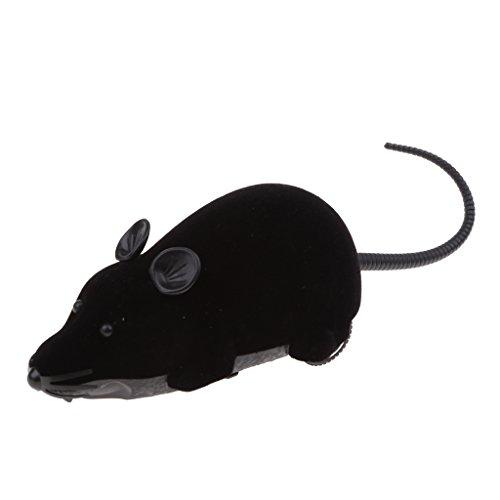 perfk Elektronisches Katzenspielzeug Maus mit Fernbedienung - Schwarz