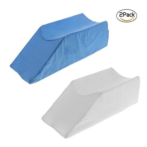 BDFA Contour Bett-Beinauflage - Schaum-Bein-Aufzugs-Kissen Mit Waschbarer Abdeckung; Support und Elevation Kissen Für Chirurgie, Verletzung Oder Ruhe - 2St