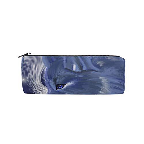 Bonipe Wolf Federmäppchen, Tasche für Schule, Schreibwaren, Stiftebox, Reißverschluss, Kosmetik, Make-up-Tasche