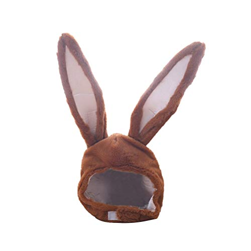 BESTOYARD Kaninchen Hut mit Ohren Lustige Plüsch Hase Ohren Kappe Kaninchen Kostüm Foto Booth Requisiten (Braun)