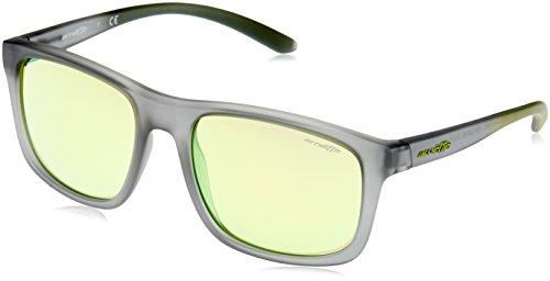 Arnette Herren 0AN4233 24238N 57 Sonnenbrille, Grau (Matte Transperent Grey/Lightgreenmirrorgreen),