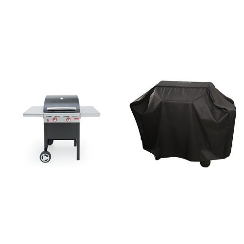 Barbecook Gasgrill Spring 200, grau, 133,5 x 57,4 x 115 cm, 2236920200 + Abdeckhaube