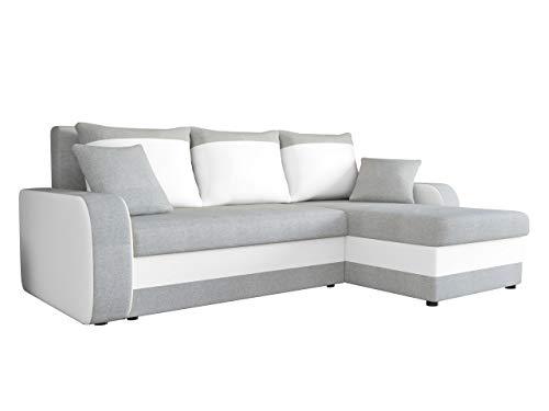 Mirjan24  Ecksofa Kristofer Lux, Eckcouch Couch! mit Schlaffunktion, Zwei Bettkasten, Farbauswahl, Wohnlandschaft! Bettfunktion! Design L-Form Sofa! Seite Universal! (Bristol 2460 + Soft 017)