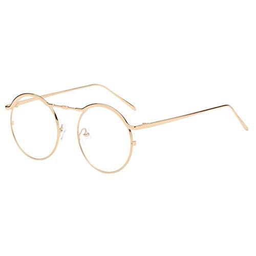 Sonnenbrille Polarisiert für Damen/Dorical Runde Metallrahmen Bonbonfarben Unisex Gläser Sonnenbrille mit UV-400 Schutz Vintage Brille Frauen Sunglasses Travel Eyewear(G)