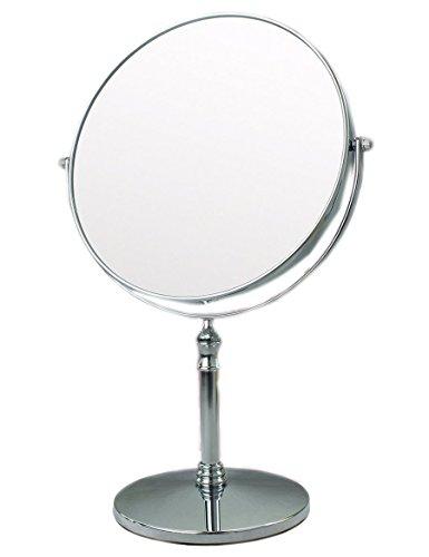 Tragbare Mini Spiegel Benchtop Doppel Kosmetikspiegel Kosmetikspiegel Metall Spiegel Schminkspiegel Geeignet Für Schlafzimmer Und Bad (Farbe: 3) (Wand-bad-licht Nickel)