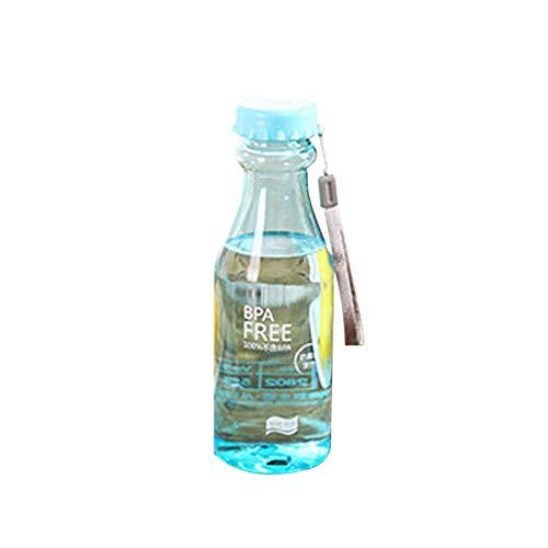 WuWxiuzhzhuo Große Förderung 500 ml Tragbare Candy Farbe Klar Reise Sport Fruchtsaft Tasse Wasserflasche Geschenk Blue