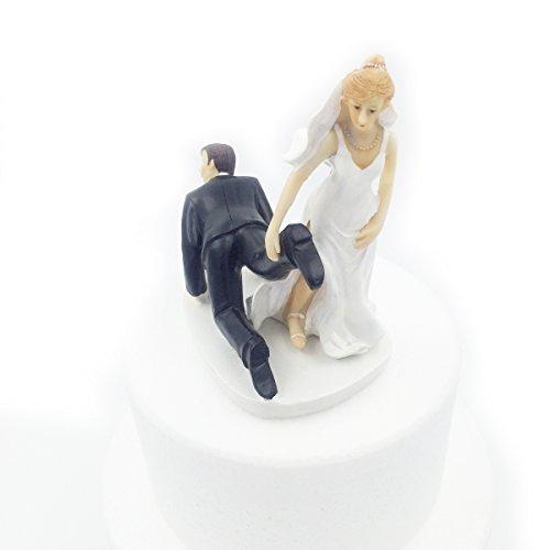 E-muse cake topper matrimonio divertentessima coppia di sposi adesso sei mio 5 pollici altezza