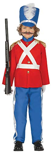 Boys Red Tin Toy Soldier Nutcracker Christmas Xmas Little Drummer School Play Celebration Fancy Dress Costume Outfit (5-6 ()