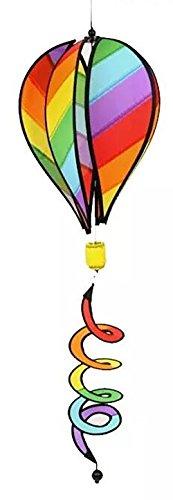 ballon Garden Spinner Sparkle Ballon Windmühle Windrad Windspiel XXL Balloon Spiral 3D Twist - Wetterbeständig - Ballon (Heißluft -Ballon) (Regenbogen-windrad)