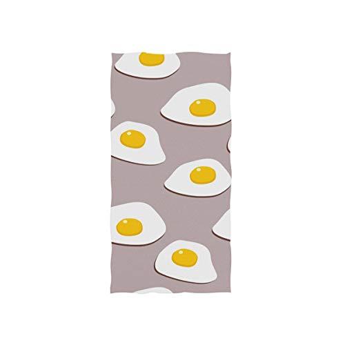 Gelb Weiß Spiegeleier Cartoon Soft Spa Strand Badetuch Fingerspitze Handtuch Waschlappen Für Baby Erwachsene Badezimmer Strand Dusche Wrap Hotel Reise Gym Sport 30x15 Zoll