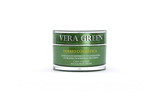 Vera Green Dermo Cosmética. Crema de Aloe Vera Facial de Día y Noche. 100% Natural. 50ml.