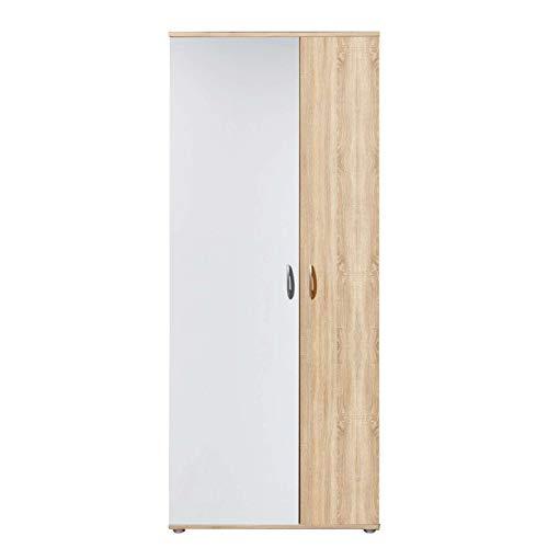 Avanti trendstore - talent - armadio ad ante a battente in laminato quercia/bianco, dimensioni: lap 70x176x35 cm