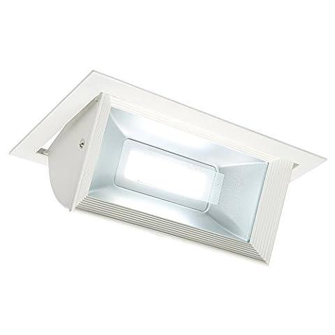 Saxby Mendip 45W Blanc mat encastrable réglable affichage à LED