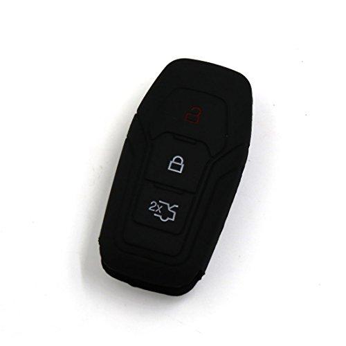 sourcingmap® Clé à distance voiture silicone noir Housse
