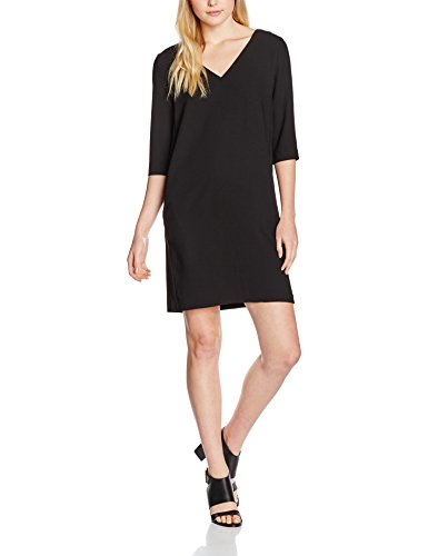 SELECTED FEMME Sftunni Smile 3/4 Dress Noos, Robe Femme Noir (Black)